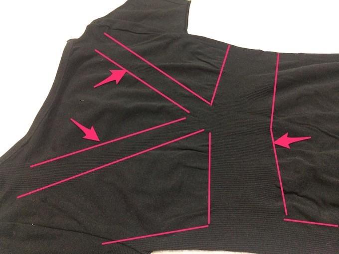 加圧シャツの繊維拡大画像
